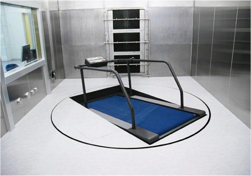 全天候型トレッドミル(人工風雨室用)